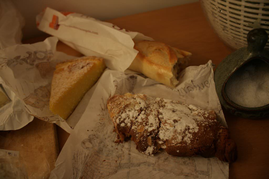 Baguette with other pastries in Paris