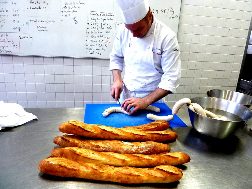 Fresh Baguette with Boudin Blanc